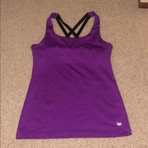 Athletic tank with built in bra